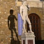David di Palazzo Vecchio di notte di Rolando Squilloni